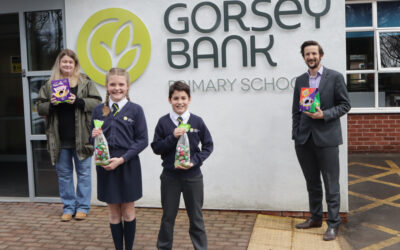 Primary pupils donate hundreds of Easter eggs to local foodbank to support local families during holiday